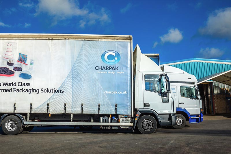 Charpak's fleet of vehicles, UK thermformed manufacturer