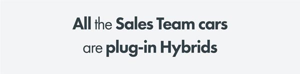 Sales team cars are plug-in hybrids