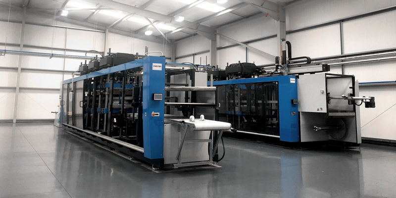 New Kiefel KMD78 machine in warehouse ready for production