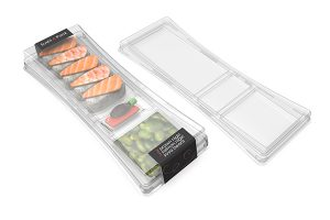 Sushi clear rPET packaging