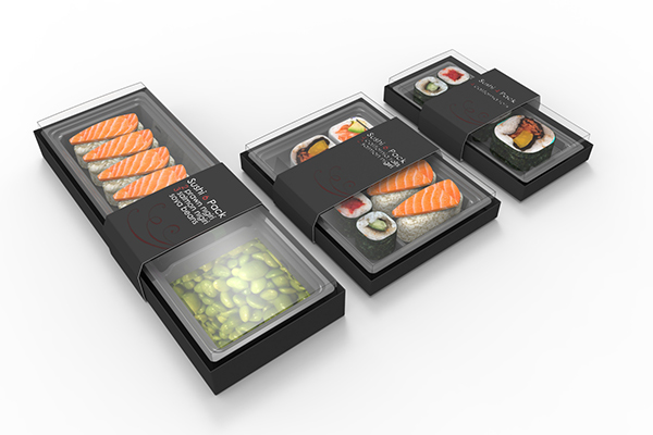 luxury premium sushi food trays