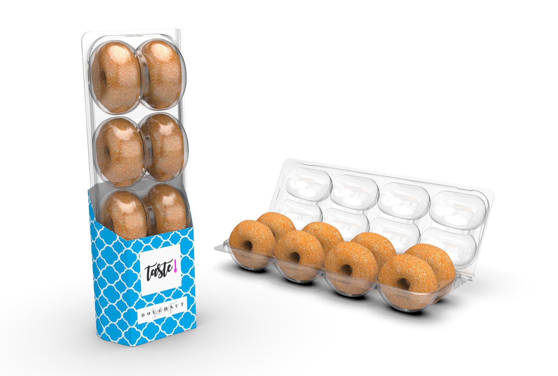 Charpak-takeaway-recyclable--PET-doughnut-packaging