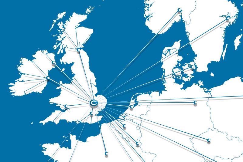 Charpak Distribution UK Ireland Scotland Europe International map
