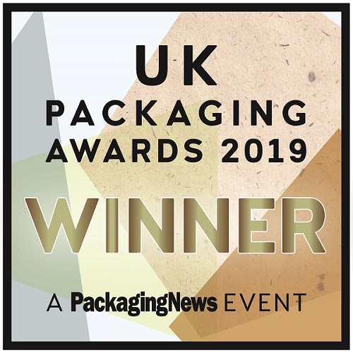 Charpak Ltd announce winning the UK Packaging Awards Innovation of the Year 2019 for Twist-Loc rPET recycled plastic packaging tub on sale in UK supermarkets as Waitrose Treat Tubs