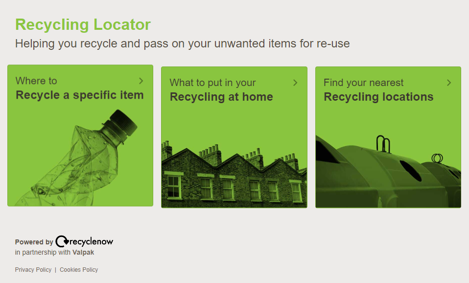Recycle Now Recycle Locator